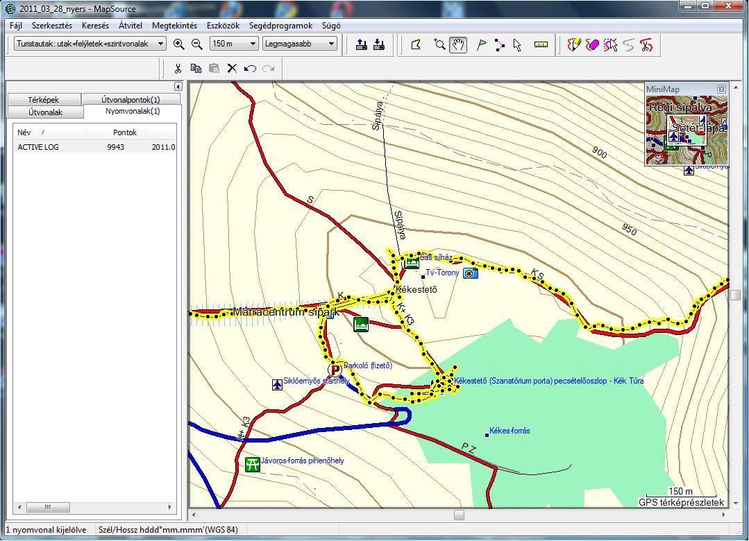 Kékestetői GPS track