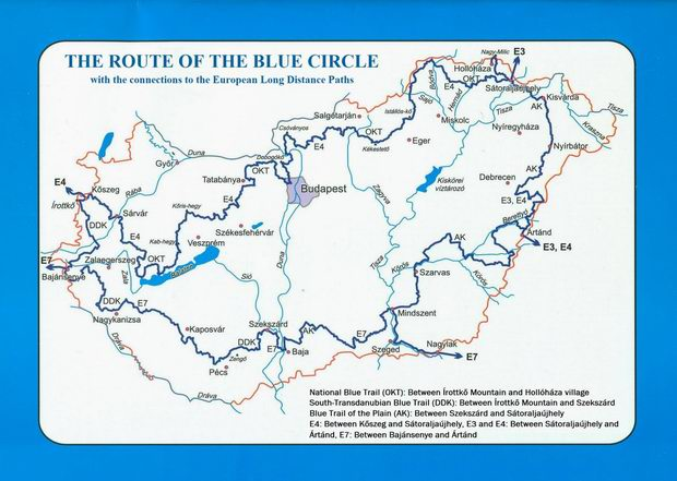 The route of the Blue Circle