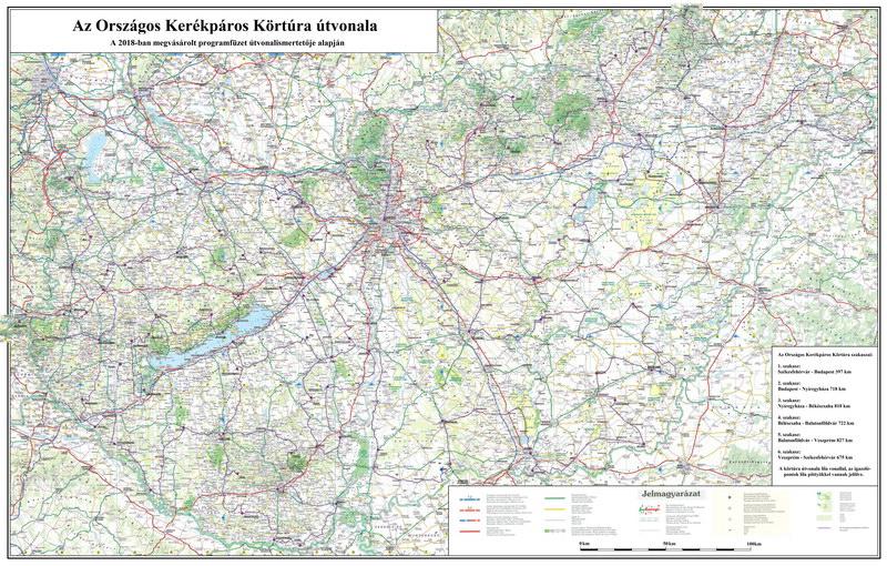 Az Országos Kerékpáros Körtúra útvonaltérképe