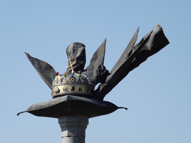 A Millenniumi emlékmű koronája közelről