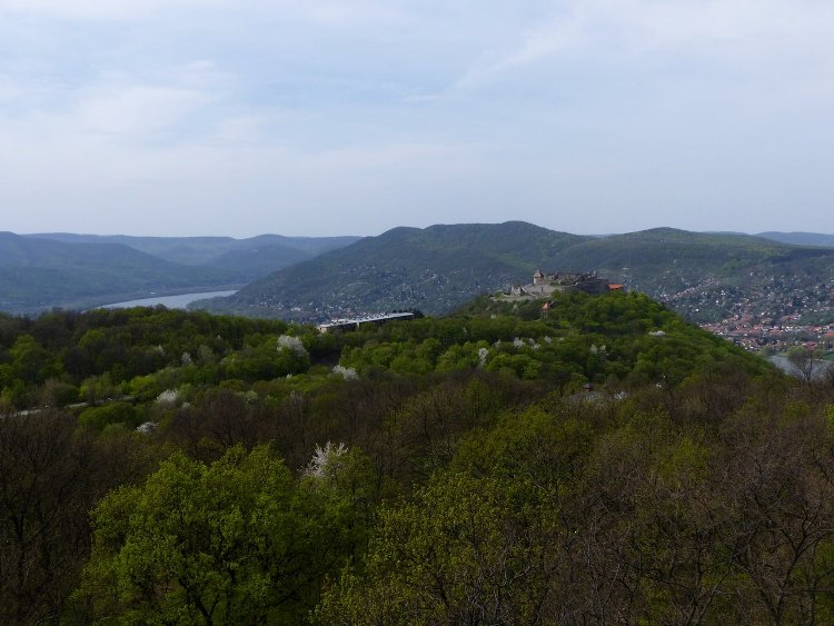 Kilátás a Fellegvárra és a Dunakanyarra a kilátóból