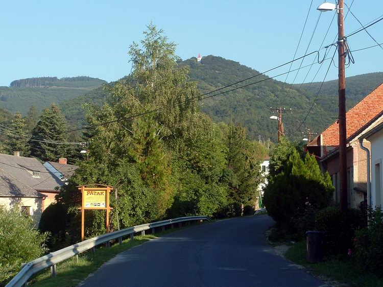 Velem village - In front of us towers the Szent Vid-hegy with the chapel on its peak
