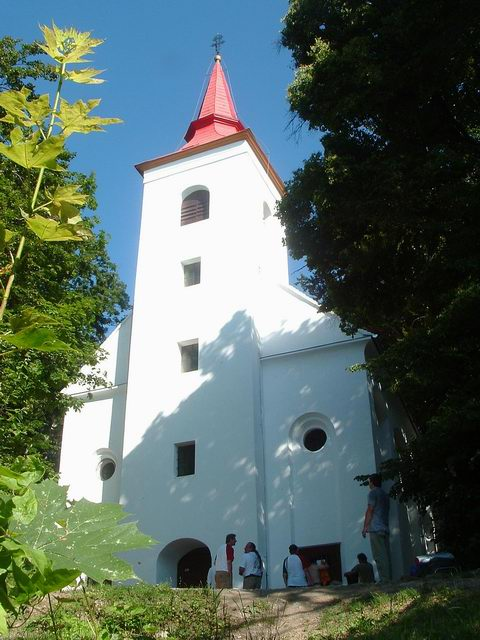 The Szent Vid Chapel stands on the top of the hill