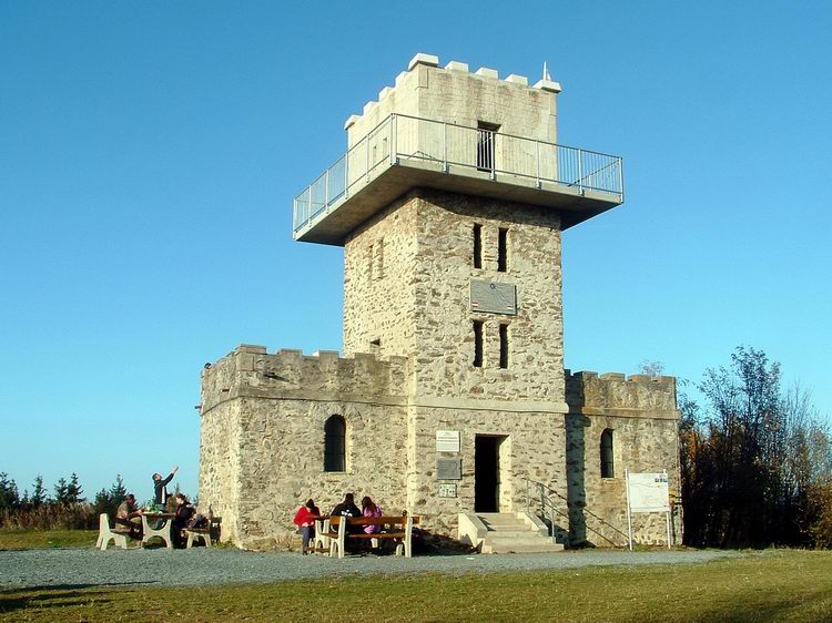 Lookout tower at the Austrian-Hungarian border, on the top of the Írott-kő Mountain
