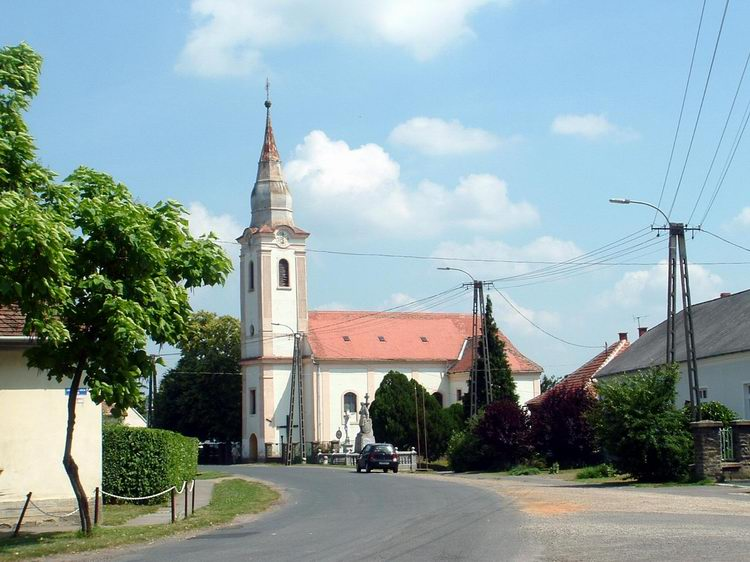 The Catholic church of Káld village