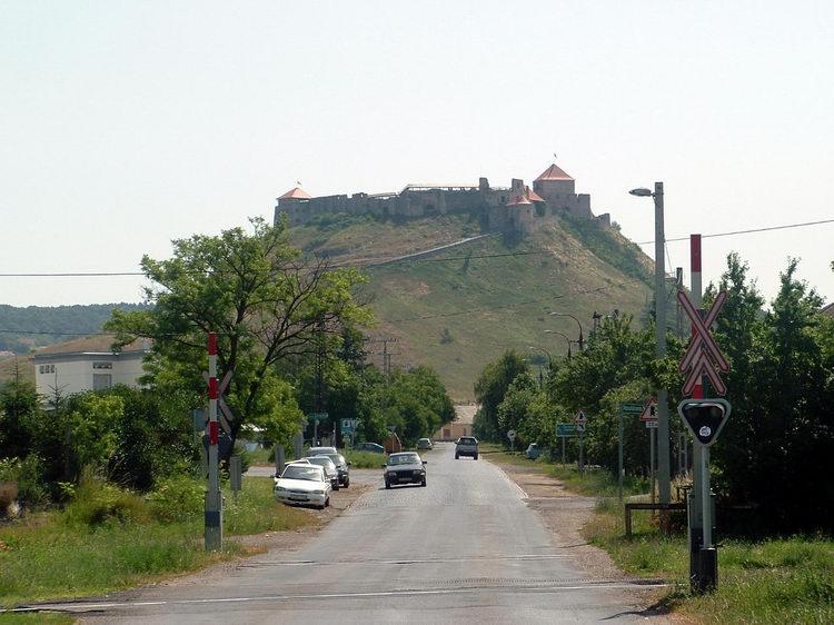 Castle of Sümeg - Taken from the rail crossing