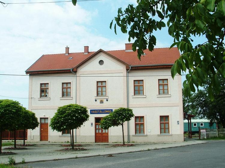The railway station of Sümeg