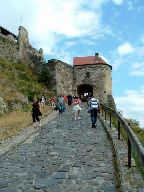Hard climb to the gate tower of the fortress