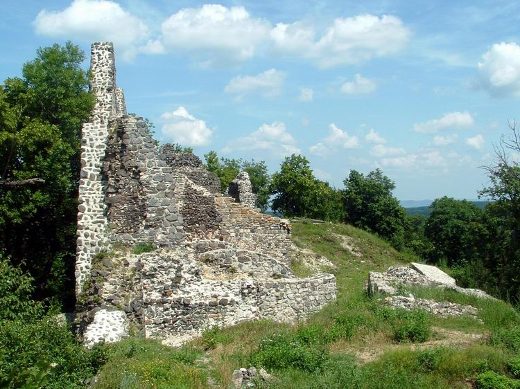 The ruined Castle of Tátika