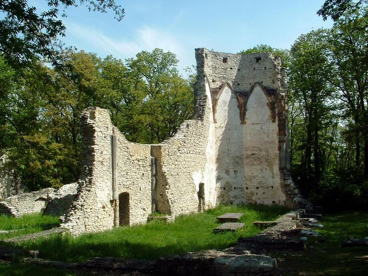 The ruins of the destroyed monastery
