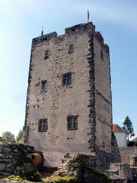 The old tower of the Castle of Vázsonykő