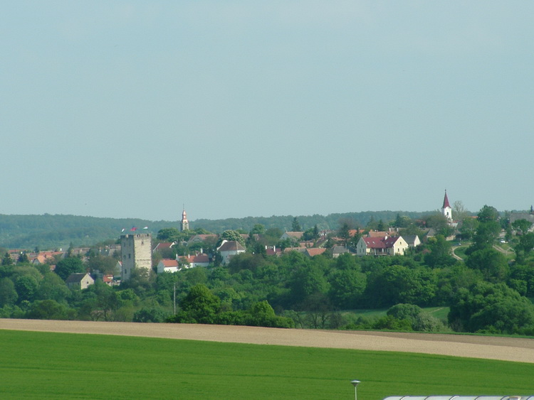 The view of Nagyvázsony from the fields