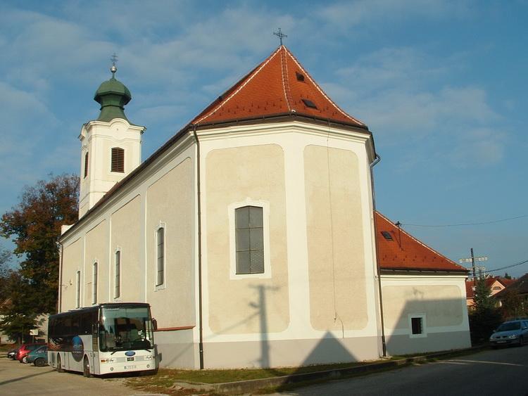 The Roman catholic church of Városlőd village