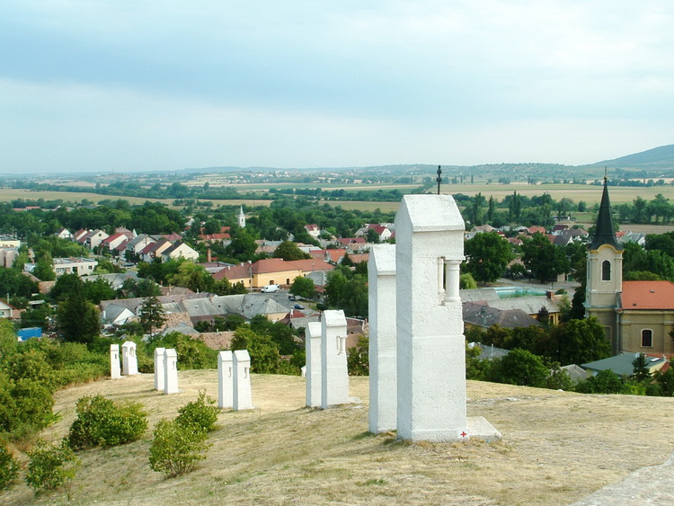 The panorama of Bodajk taken from the Calvary Hill