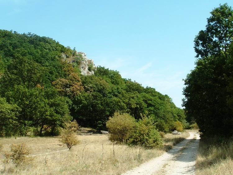 On a dirt road towards Gánt village