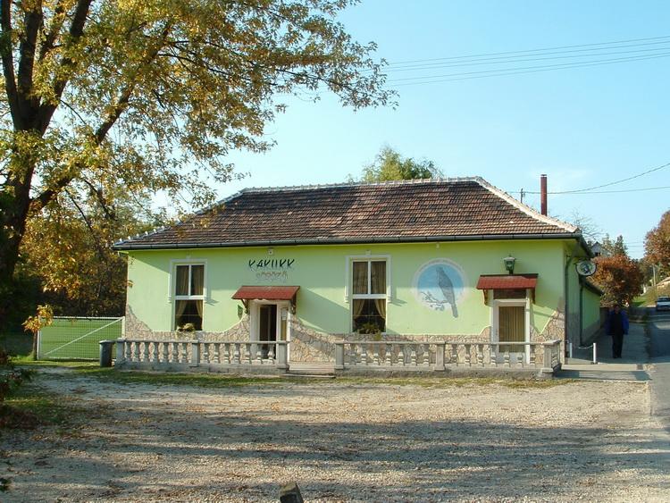 The Kakukk pub in Mogyorósbánya village