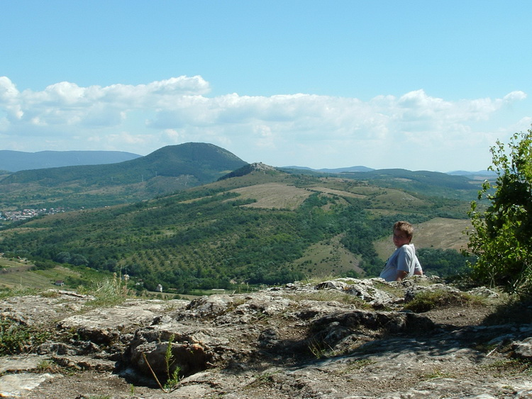 View from the rocky peak of Kőszikla Hill