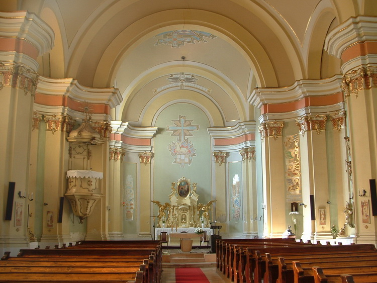 The inside of the Roman Catholic church of the town