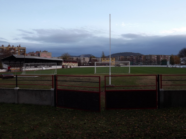 The old football pitch of the town