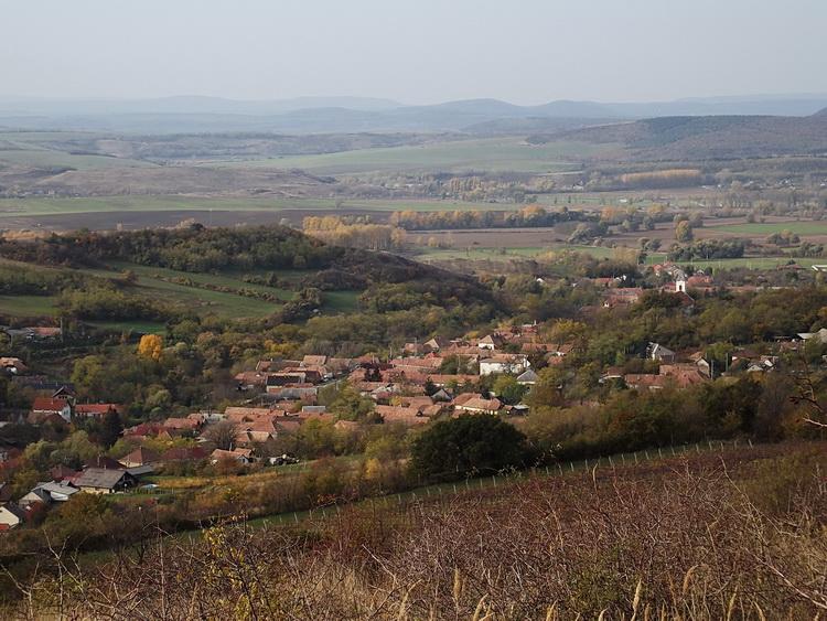View towards Kesztölc village from the mountainside
