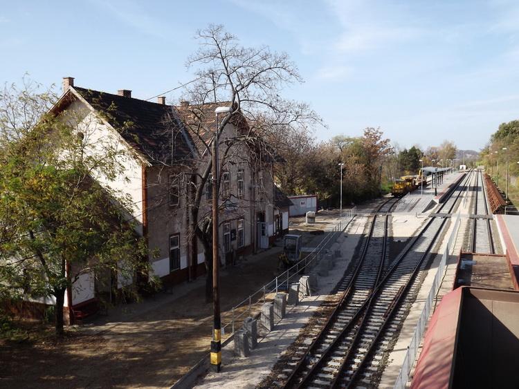 The railway station of Piliscsaba village