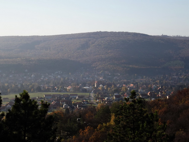 Panorama from the increased protected area of the Nagy-szénás Mountain