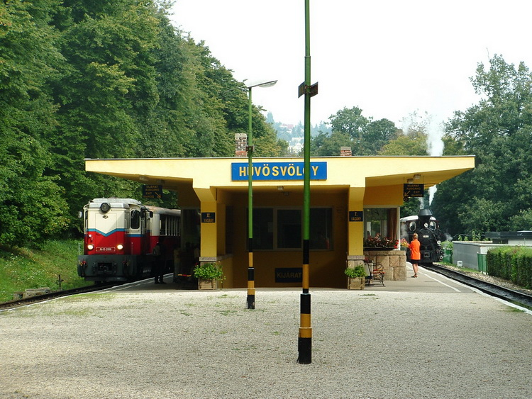 On the platform of the terminal of the narrow gauge railway