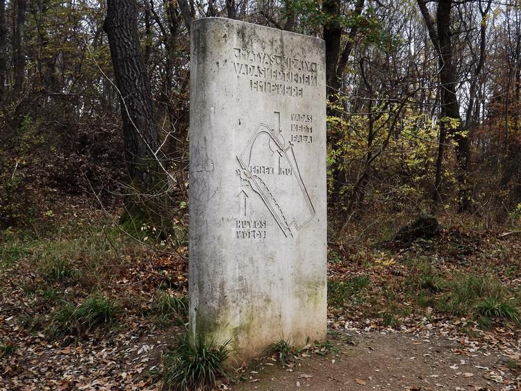 The memorial column of the wildlife park
