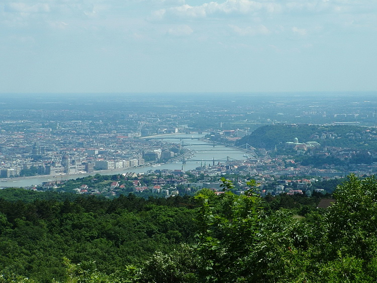 Panorama to the capital from the lookout point