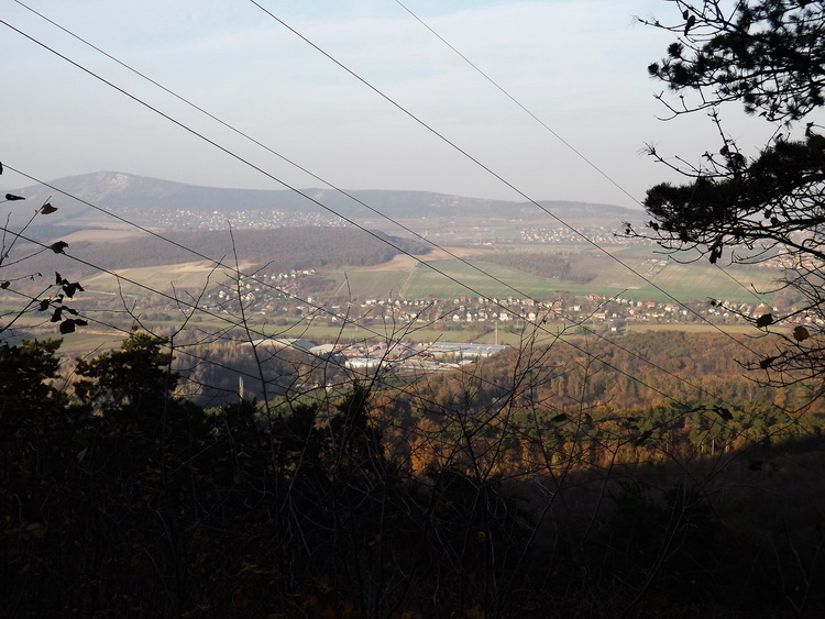 View from the cut-line of a power line towards the valley