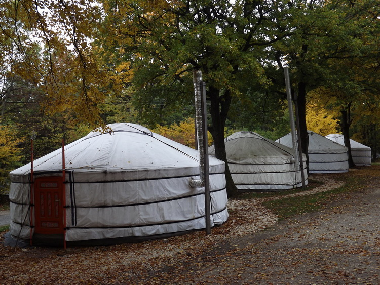 The yurt camp is a cheap accommodation for hiker on Dobogókő