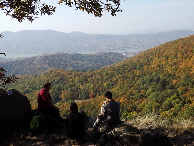 View from the rocks of Borjúfő