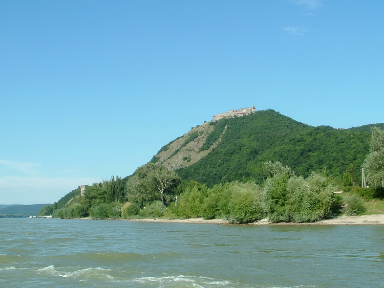 A glimpse at the fort of Visegrád from the ferry