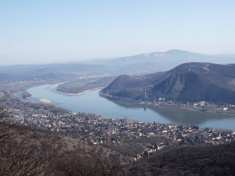 The panorama of the Danube Bend from the lookout tower