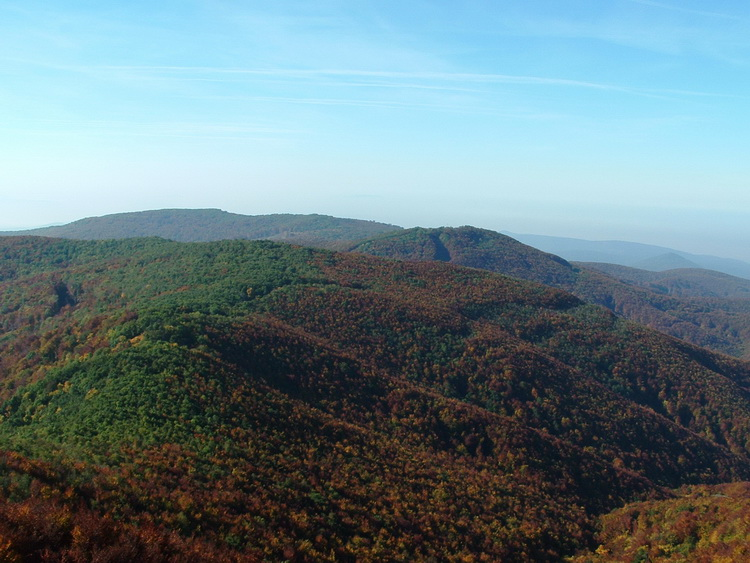 View from the lookout tower of Csóványos Mountain