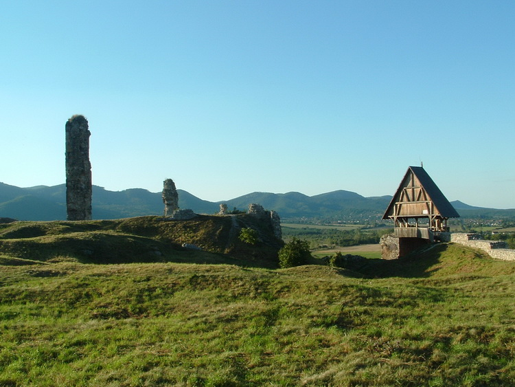 Among the ruins of Castle of Nógrád