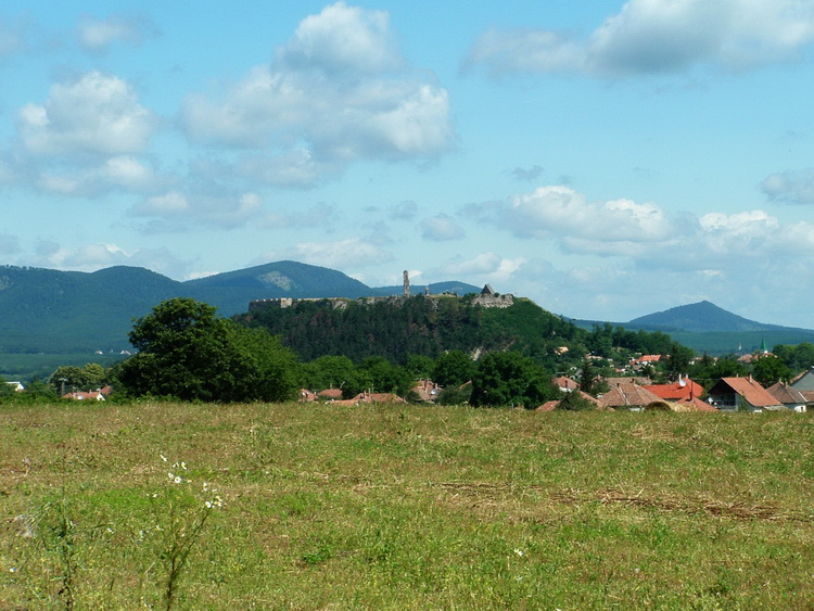 The castle of Nógrád taken from the ridge