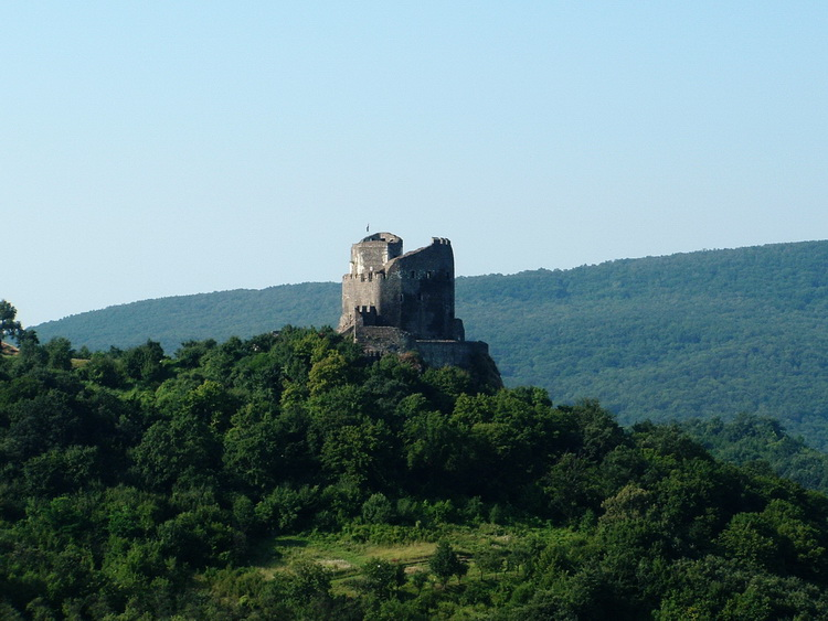Castle of Hollókő taken from the hillside