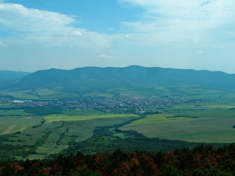 The panorama of the wide valley of Zagyva River and the Mátra Mountains