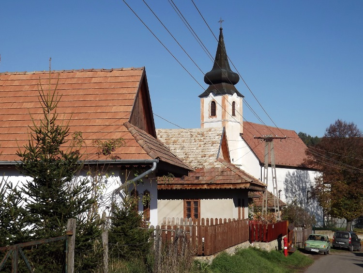 Arrival in Terény village