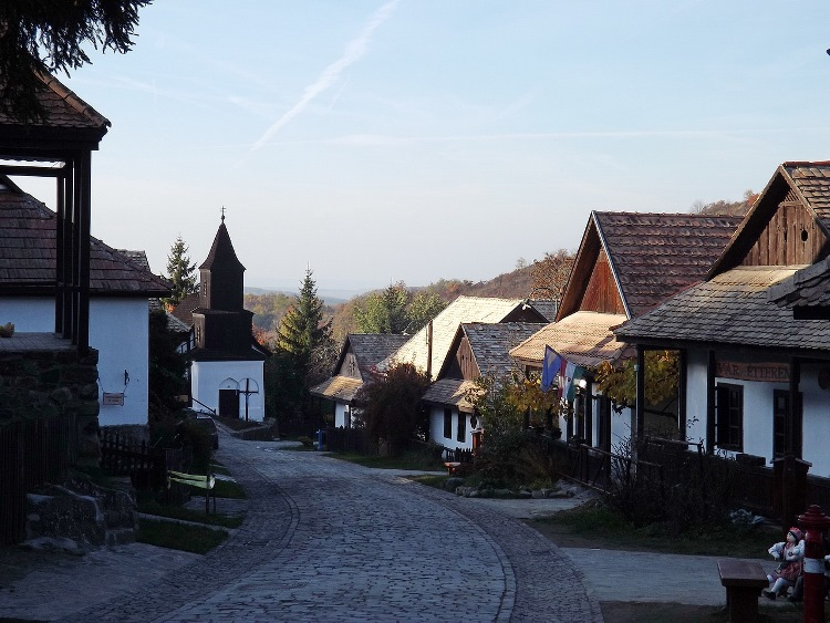 The World Heritage Site Hollókő village