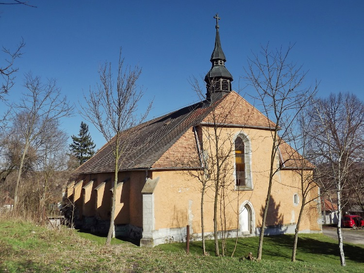 The gothic church of Mátraverebély village
