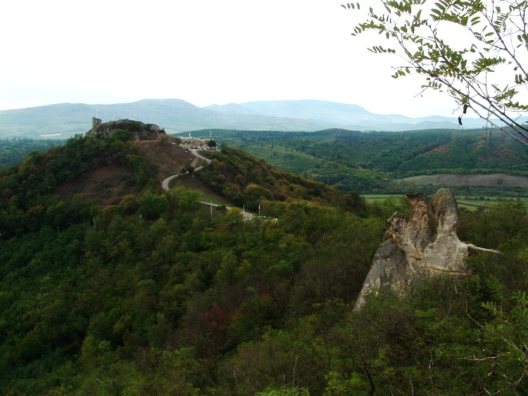 Panorama to the castle from the Turk Table Rock
