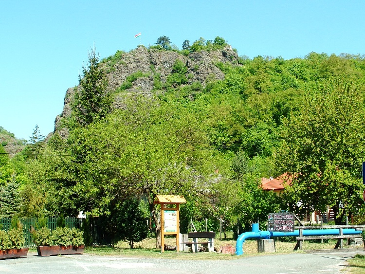 The Castle Rock of Szarvaskő towers in front of us