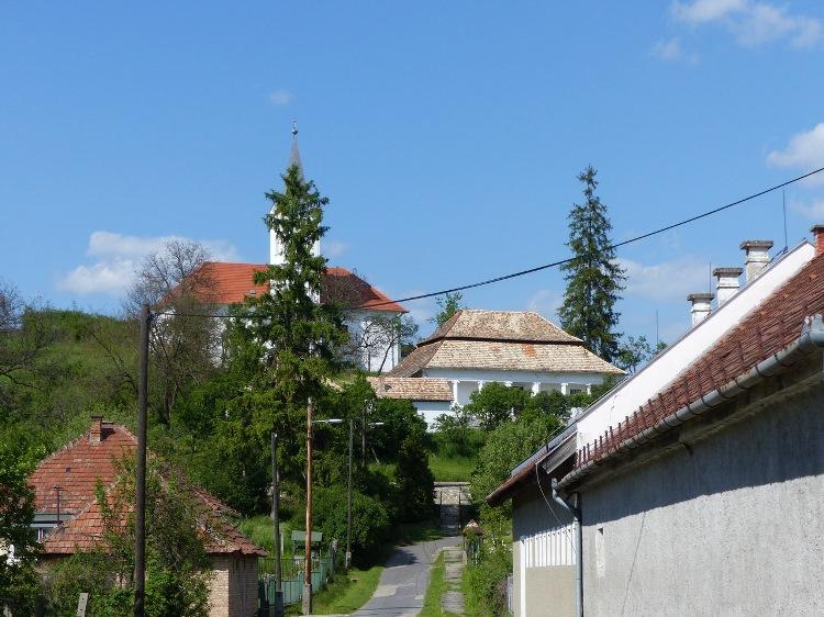 The Calvinist vicarage and church of Zádorfalva village