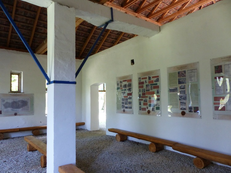Exhibition in the partly renovated school
