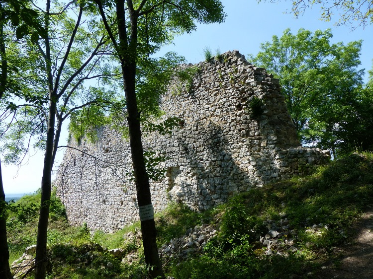 Among the ruined walls of Szádvár fortress