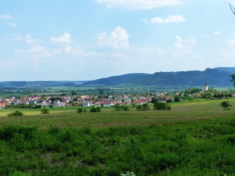 The view of Bódvaszilas village and the Bódva Valley