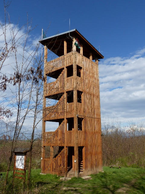 This lookout tower stands above Baktakék village on the hill