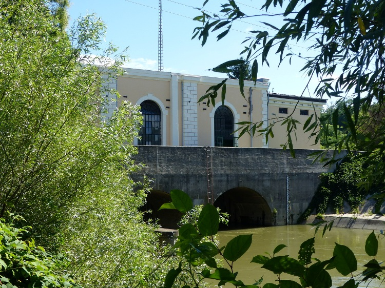 More than 100 years old power plant on the Hernád River - it is a Blue Trail stamping place